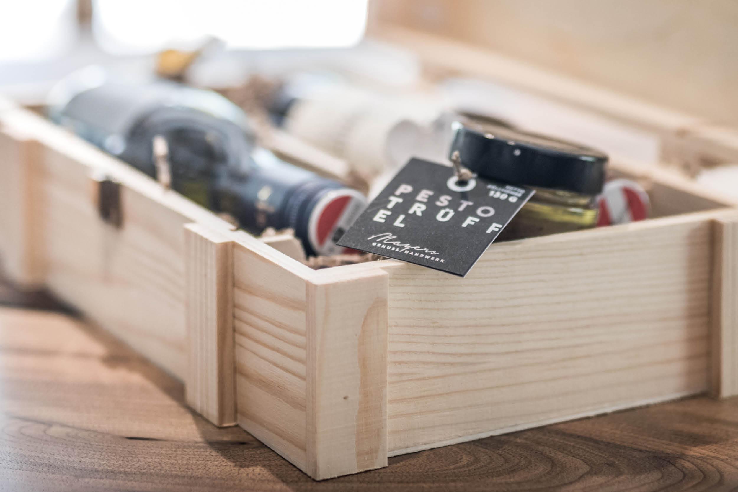 Geschenksbox aus Holz