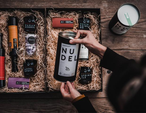Geschenkbox aus dem Genussladen.