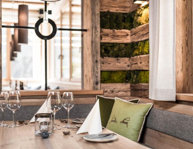 Neu gestaltete Gasträume in der Kohlröserlhütte.