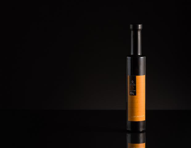 Kürbiskernöl in Flasche