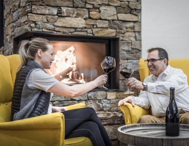 Weinverkostung im Seminarraum Weitblick